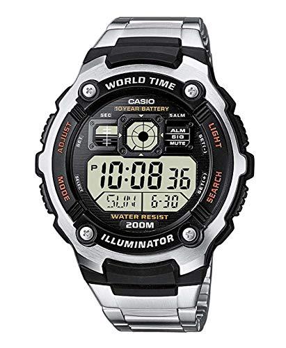 Casio Orologio analogico-Digitale al Quarzo Uomo con Cinturino in Acciaio Inox AE-2000WD-1AVEF