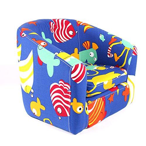 Emall Life Poltrona per bambini Poltrona per bambini Sedia a fumetti Sedia in legno (Sotto il mare)