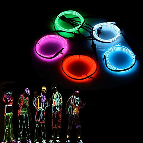 El fili, Sunboia 5 x 1 m luci al neon Glowing Strobing Dance party costume Decor Light flessibile el...