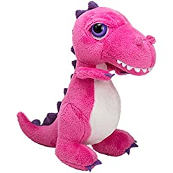 Suki Gifts International T-Rex Dinoz Dinosaurio suave de peluche (tamaño pequeño), color rosa