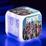 Despertador Fortnite Juego Figuras Color cambiante luz de la Noche 7