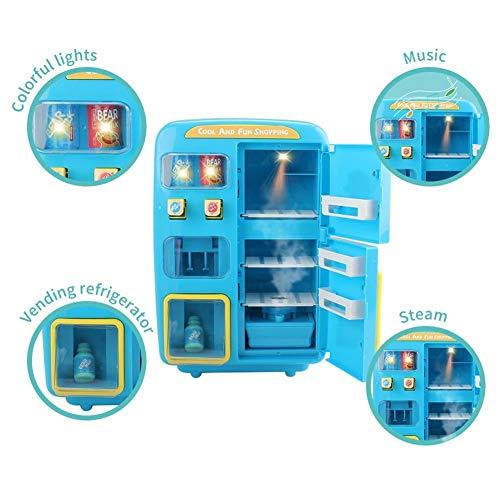 Spielhaus Spielzeug, elektrische Simulation Doppel Kühlschrank Automaten Spielhaus Spielzeug Tür Nebel Funktion Beleuchtung Glocke