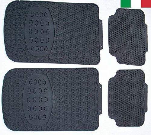 Cenni 27853 – Set 4 Tappeti Auto in Gomma Inodore, Universali, Sagomabili, Made in Italy