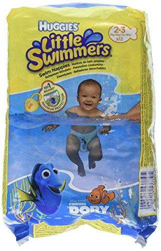 Huggies Little Swimmers Pannolini, Taglia 2-3 (3-8 kg), 1 Pacco da 12 Pezzi