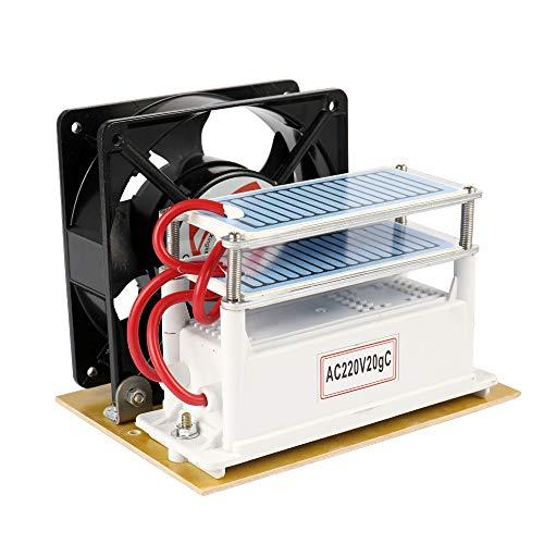KKmoon 20g/h 220V Fan Portatile del Purificatore del Filtro Aria della Macchina di Disinfezione del Generatore dell'ozono per Sterilizzazione Domestica Automobile