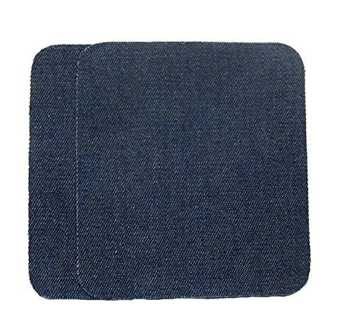 2er Set JEANSBLAU DUNKEL Bügelflicken zum Aufbügeln aus Baumwolle...