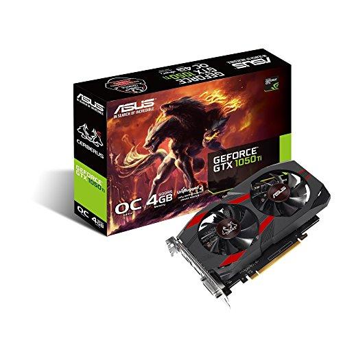 ASUS CERBERUS-GTX1050TI-O4G - Tarjeta gráfica (GeForce GTX 1050 Ti, 4 GB,...