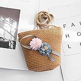 GGhaohong Elegante Baby Small Bag Straw Shoulder Messenger Crossfile Bag Girl Mini für Sommer Hot(None Picture Color)