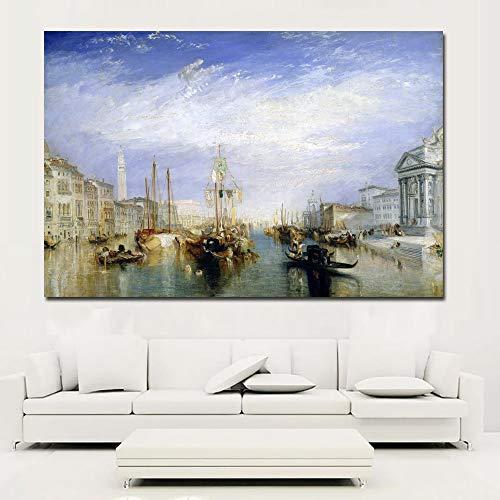 JNZART Quadro su Tela Arte pittorica William Venezia Italia Foto Decorazioni per la casa su Tela...