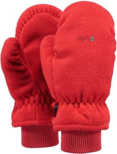 Barts - Fleece Mitts Kids, Guanti Bambino, Rosso (Rot), Taglia 2 (2-3 Anni)
