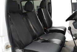 WOLTU AS7323 Housse de siège pour camionnette couverture de siège de camion en polyester et imitation cuir,Noir Gris Vente