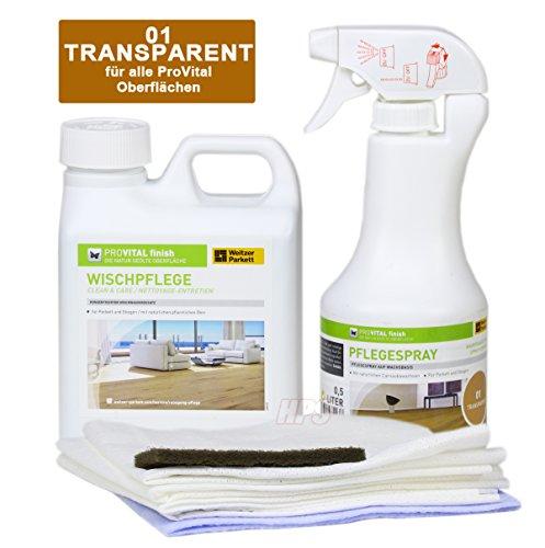 Pro Vital Weitzer Set per la manutenzione per pavimenti parquet oliati + spray