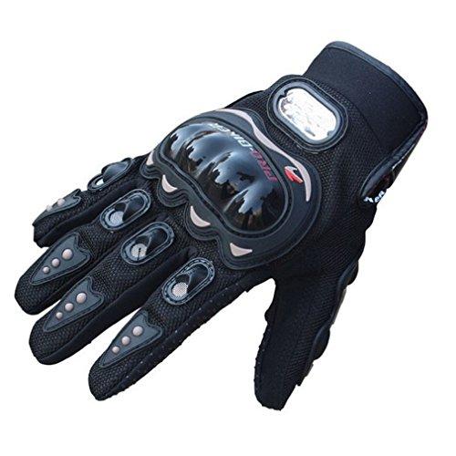 Tonsee Rock schwarz kurze Sport Leder Motorrad Motorrad Sommer winter Handschuhe 1