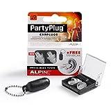 Alpine PartyPlug - Gehörschutz für Musik, Konzerte & Festival, Gratis Miniboxx, transparent