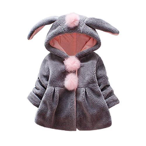 a2e294717 Amlaiworld Abrigos Bebe niñas,Chaqueta con Capucha de Orejas de Conejo de  Venonat para niños