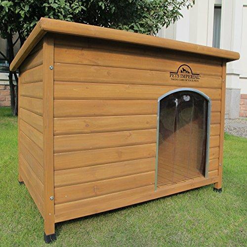 Pets Imperial Cuccia Per Cani Canile Norfolk Extra Large in Legno con Binari Guida e Pavimento...