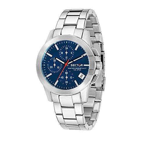 SECTOR Orologio Cronografo Quarzo Uomo con Cinturino in Acciaio Inox R3273797503