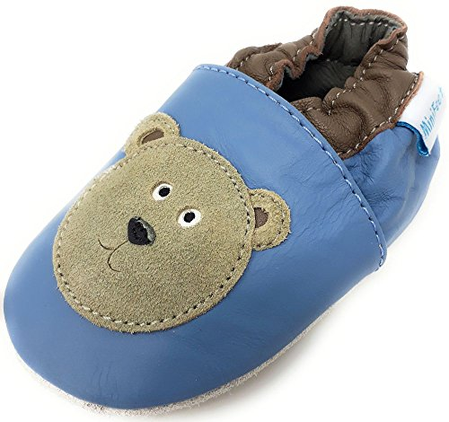 45af4dbd734 MiniFeet Premium Soft Leather Baby Shoes - Pram Shoes - Toddler ...
