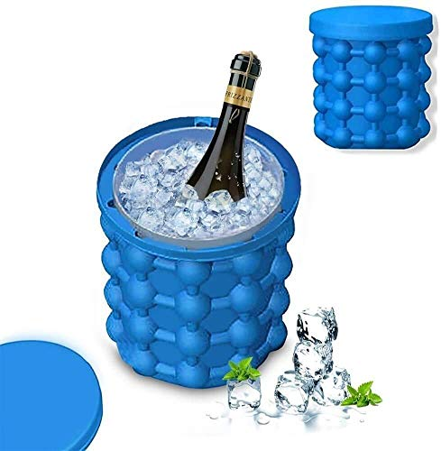 RJ MART Silicone Ice Cube Maker | The Innovation Space Saving Ice Cube Maker | Bucket Revolutionary Space Saving Ice-Ball Makers for Home, Party and Picnic