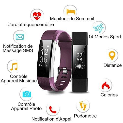 Montre Connectée, Willful Bracelet Connectée Fitness Tracker d'Activité Cardiofréquencemètre Etanche IP67 Smartwatch Cardio Podomètre Sport ... 6
