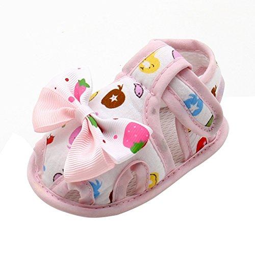 KISSION Confortevole Neonate Scarpine Neonata con Bella Fiore 0-18 mesi