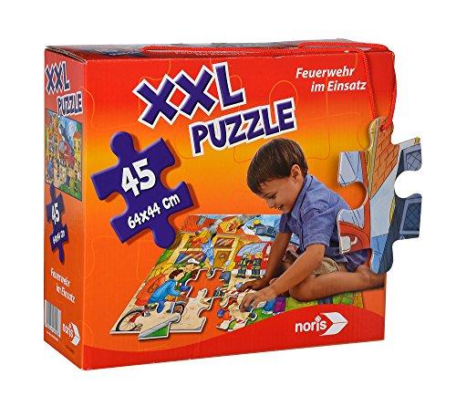 Noris-Spiele 606038000–Puzzle Gigante Vigili del Fuoco, 45PZ.