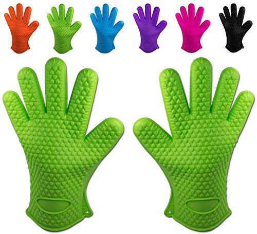 Belmalia 2 guanti da forno in silicone per cucina e griglia, kit, coppia, presine, guanti da forno...