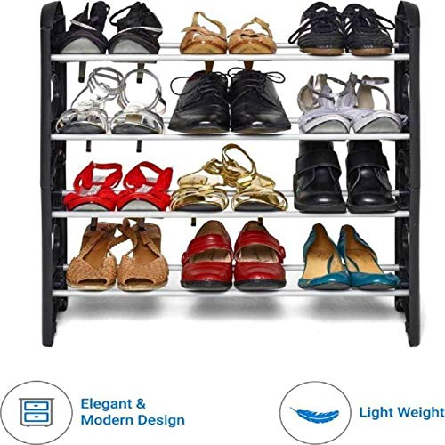 Pureus Foldable Shoe Rack with 4 Shelves (Plastic Rod) 3