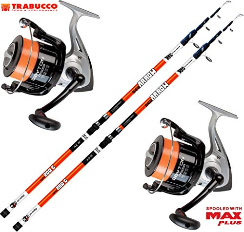 Kit 2 pz Canna Surfcasting Evo Sea Arrow 420 + 2 PZ Mulinello Trabucco Dayton 8000