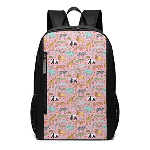 Homebe Zaino da Viaggio,Borsa Viaggio Animal Tiger Pattern Pink Yellow Blue Zoo Printed Patterned...