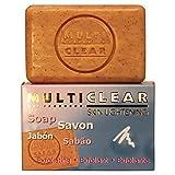 Jabón exfoliante aclarador. MULTICLEAR - 100g. Antimanchas y Antiacne. Con semilla de Melocotón....