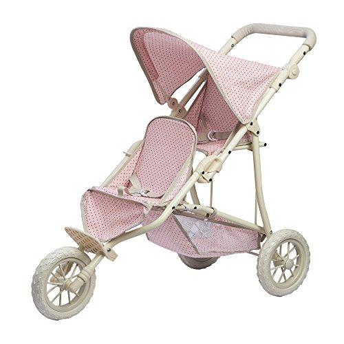 Olivia's Little World- Passeggino per Bambole bebč, Colore Rosa/Grigio, OL-00004