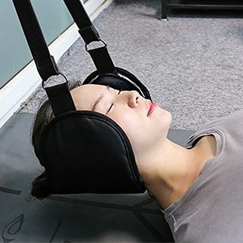 DJBNQ Hängematte für Hals tragbare Nackenschmerzen Relief entspannende Camping Yoga Hängematte Nackenmassagegerät Schaum Nickerchen Kissen Kissen Schaukel