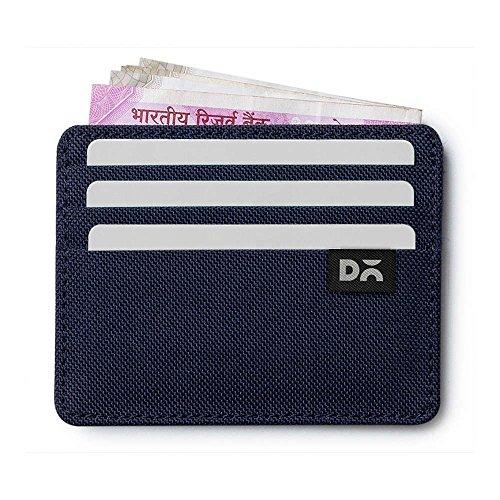 DailyObjects Blue Ballistic Nylon Skinny Fit Card Wallet, Size-3X.2X4 Inch