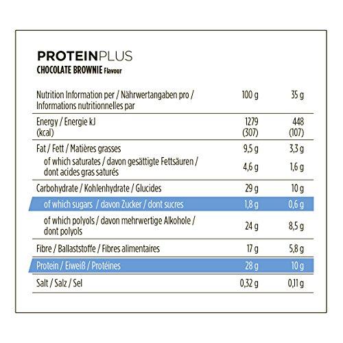 PowerBar Protein Plus Low Sugar Barre Protéinée Faible en Sucre Chocolat Brownie 30 x 35 g 7