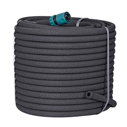 Soaker hoses are are your standard hose pipe but they are a great way to water any where at floor level, simply lay the hose along the ground, or slightly under the soil to slowly seep water into the ground where you need to. You can cut it to any length and it fits standard quick connect hose fitting.