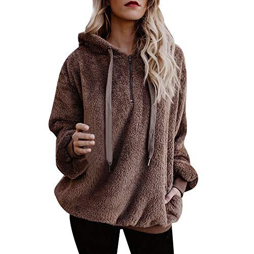 Mujer Sudadera Caliente y Esponjoso Tops Chaqueta Suéter Abrigo Jersey...