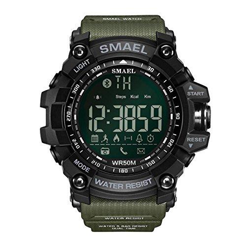 Orologio Militare Intelligenti dell'ingranaggio del Braccialetto Uomini Bluetooth Smart Watch...