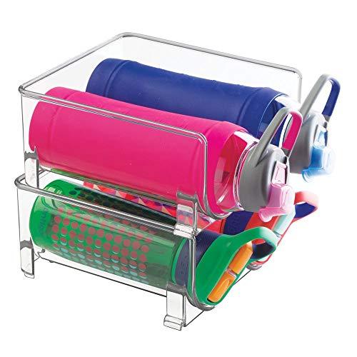 mDesign Set da 2 Porta Bottiglie - cantinetta impilabile per Bottiglie - perfette Come cantinette...