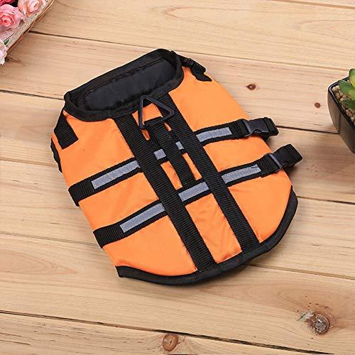 FidgetGear Dog Life Jacket, Summer Pet Life Jacket for Large Small Dog Swimming Surfing Floatation Vest Orange S