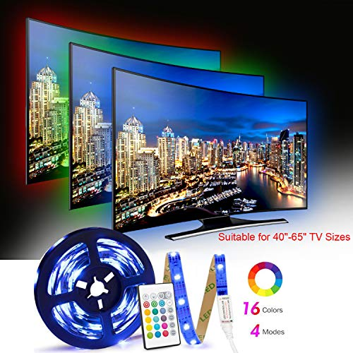 LED TV Retroilluminazione, 2.5m Striscia LED RGB USB alimentata Retroilluminazione TV LED con...