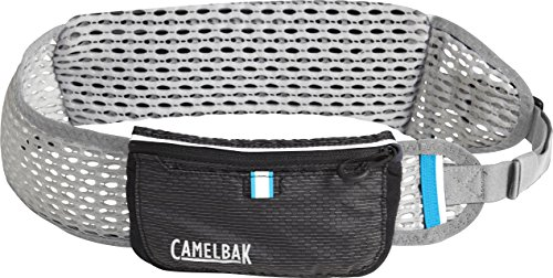 CamelBak Ultra Belt Quick Stow Flask Hydration Waist Pack, Black/Silver, X-Small/Small