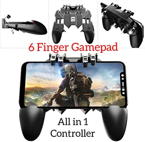 YouFirst Pubg Mobile Controller [ 6 Finger Gamepad/Upgrade Version] Mobile Game Controller,L1R1 Trigger/Rules of Survival/Survivor Royale/Free Fire/Knives Out