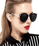 ATTCL Women's Vintage Fashion Round Arrow Style Polarized Sunglasses 11189 Black