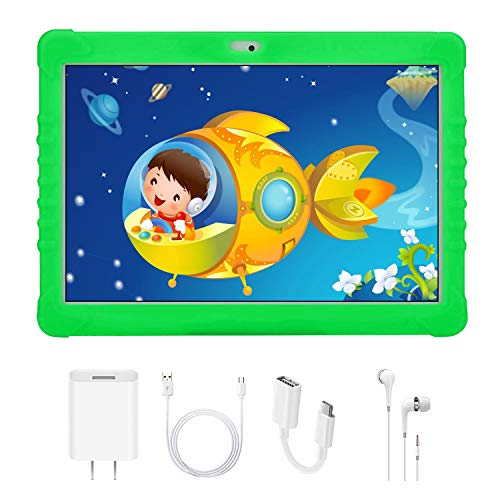 10 Pollici Tablet Bambini, 4G Kids Tablet con WiFi (Android 7.1, Quad-Core, 2GB RAM 32GB ROM,...