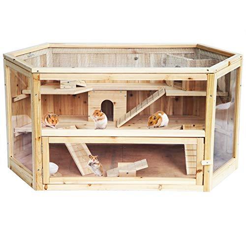 EUGAD 0035HT Gabbia per Conigli Criceto Conigliera da Esterno Giardino Casa per Piccoli Animali in...