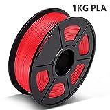 PLA Filament Red, 3D Hero PLA Filament 1.75mm,PLA 3D Printer Filament, Dimensional Accuracy +/- 0.02 mm, 2.2 LBS(1KG),1.75mm Filament, Bonus with 5M PCL Nozzle Cleaning Filament