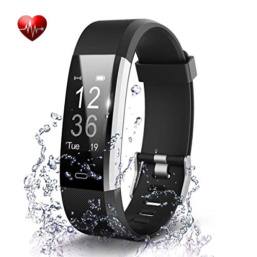 Speeqo® ID115 Plus HR Smart Wristband Heart Rate Monitor with OLED Display/Pedometer/Distance/Calorie/Sleeping Monitor/Alarm Clock/Remote Camera Control/Sedentary Alert/in-Coming Call Alert/Bluetooth