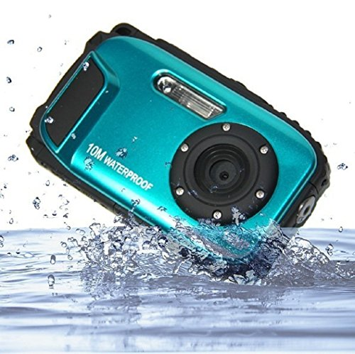 PowerLead Unterwasser Kamera 2,7 Zoll LCD Digitalkamera 16MP Video Camcorder wasserdicht Kamera Zoom Video Recorder + 8 X Zoom Cam