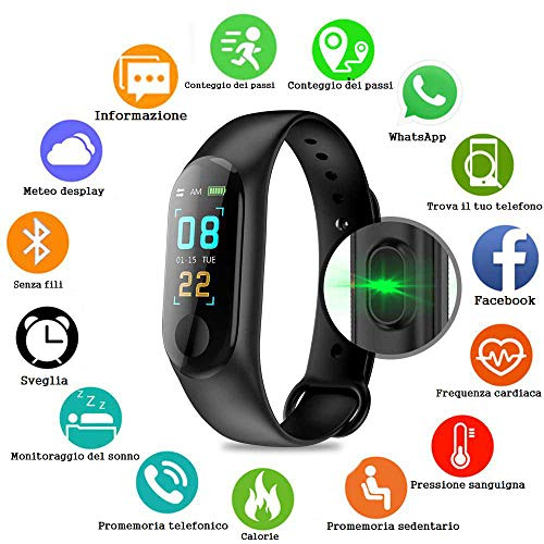 PAWACA Schermo a Colori Fitness Tracker, Activity Tracker con frequenza cardiaca/Sleep Monitor, IP67...